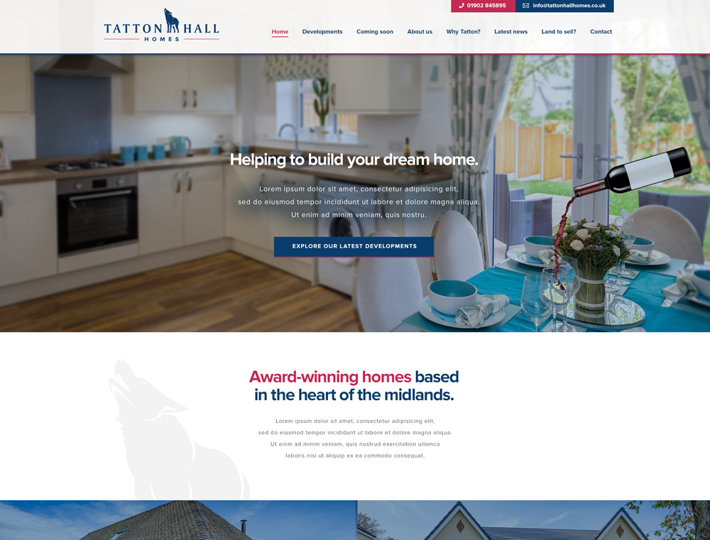 Image of Tatton Hall Homes Website